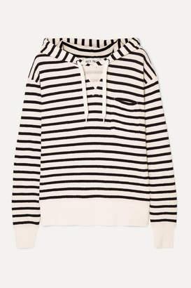 Alex Mill Striped Cotton-jersey Hoodie - White