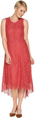 Isaac Mizrahi Live! Regular Hi-Low Lace Maxi Dress