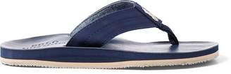 Ralph Lauren Faux-Leather Flip-Flop Sandal