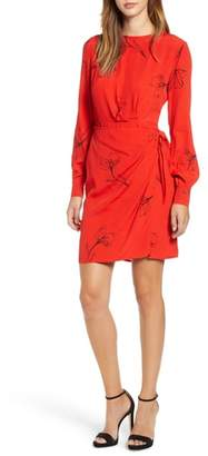 ASTR the Label Apron Front Long Sleeve Dress