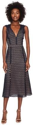 Prabal Gurung Lace Cotton Eyelet Sleeveless Dress Women's Dress
