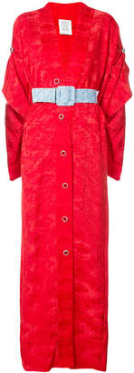 buttoned kimono