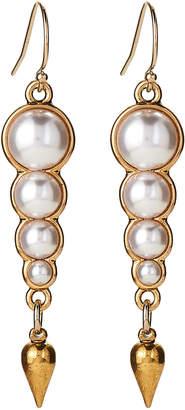 Lulu Frost Gold-Tone Faux Pearl Linear Earrings