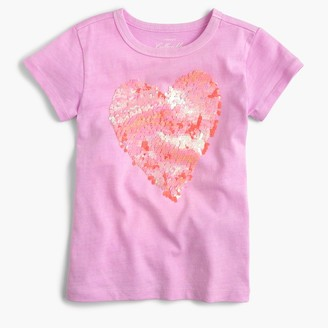 Girls' two-sided sequin heart T-shirt $39.50 thestylecure.com