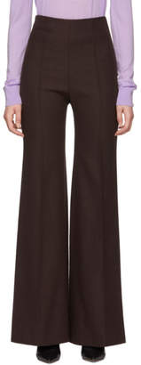 Kwaidan Editions Brown Flared Leisure Suit Trousers