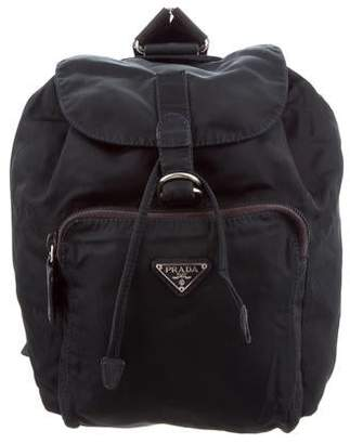 4e59cbedbf44 Prada Tessuto Drawstring Backpack