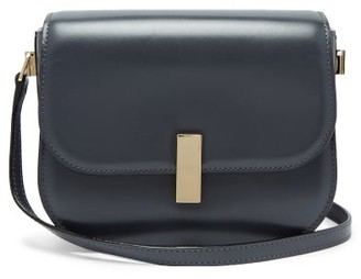 Valextra Iside Cross Body Leather Bag - Womens - Dark Grey