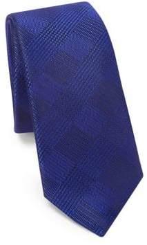Saks Fifth Avenue MODERN Tonal Plaid Silk Tie