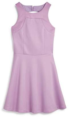 Miss Behave Girls' Heather Dress with Back Cutout - Big Kid