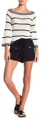 BB Dakota Paisley Solid Shorts