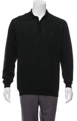 Gianni Versace Vintage Wool Polo Shirt