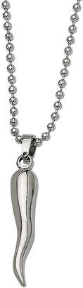 FINE JEWELRY Mens Stainless Steel Italian Horn Pendant