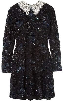Ashish Wednesday Embellished Corded Lace Mini Dress