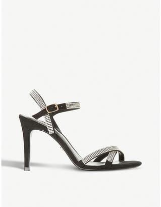 Dune Madalenna leather embellished heeled sandals