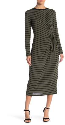 Lush Hacci Striped Brushed Dress