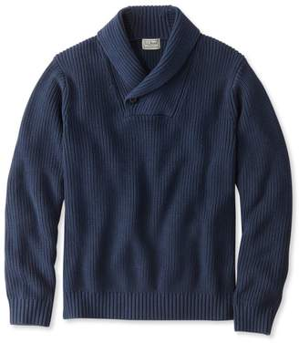 L.L. Bean L.L.Bean Blue Jean Sweater, Shawl Collar