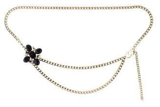 Chanel Gripoix Tweed Chain Belt