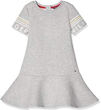 Tommy Hilfiger Girl's THKG Peplum Dress S/S (Grey Heather)