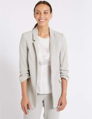 Marks and Spencer Crepe 3/4 Sleeve Blazer