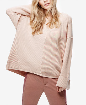 Free People La Brea V-Neck Sweater $108 thestylecure.com