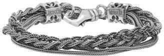 Emanuele Bicocchi Silver Double Braided Bracelet