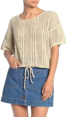 Splendid Knox Crochet Drawstring Pullover