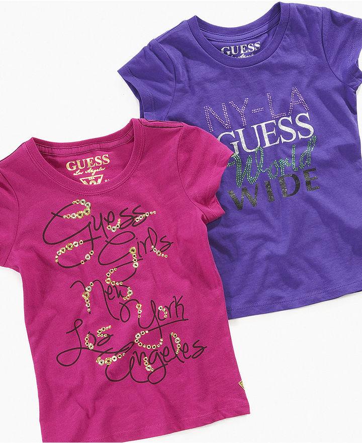 GUESS Shirt, Little Girls Logo T-Shirt