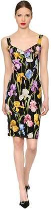 Dolce & Gabbana Floral Stretch Silk Charmeuse Dress