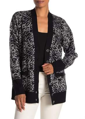 Equipment Fenwick Leopard Print Cardigan