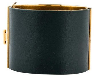 Celine Céline Leather Edge Cuff Bracelet