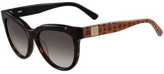 MCM Cat-Eye Two-Tone Visetos Sunglasses