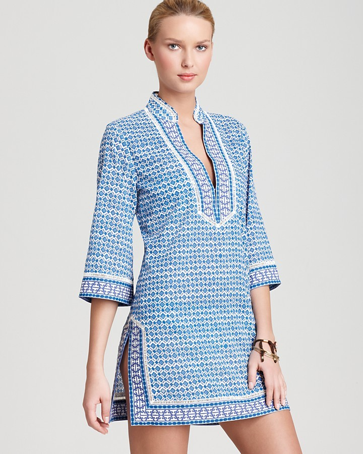 Tory Burch Swimsuit Cover Up Tunic - Moray
