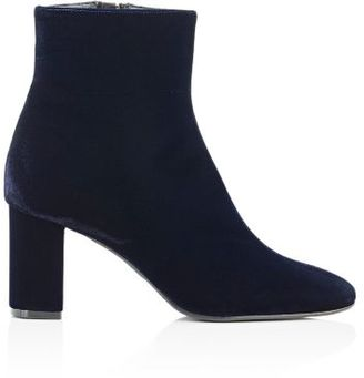 Barneys New York Women's Side-Zip Ankle Boots-NAVY $395 thestylecure.com