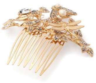 Dolce & Gabbana Crystal Embellished Hair Slide - Womens - Gold