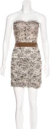 Dolce & Gabbana Strapless Lace Mini Dress