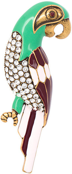 Marc Jacobs Marc Jacobs parrot brooch