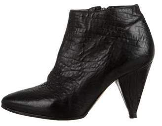 Loeffler Randall Pebbled Leather Ankle Boots