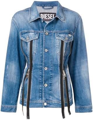 Zip Denim Jacket Shopstyle Uk