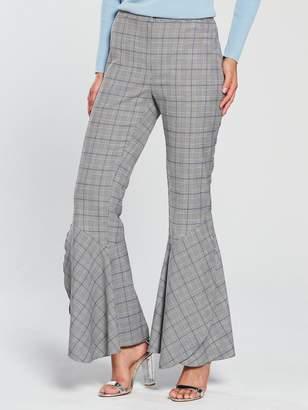 Very Flared Hem Check Trouser