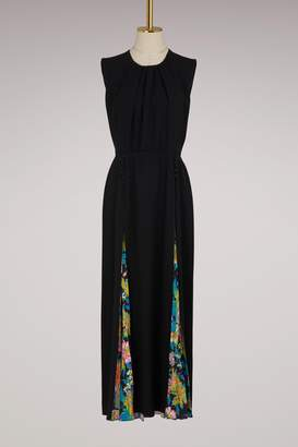MSGM Long dress with flowers details