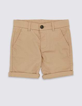 Marks and Spencer Cotton Chino Shorts with Stretch (3 Months - 7 Years)