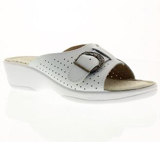 Spring Step Flexus by Edella Leather Slide Sandals