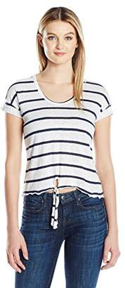 Chaser Women's Linen Jersey Pocket Shirttail Muscle