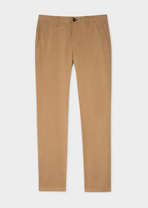 Paul Smith Men's Slim-Fit Sand Stretch Pima-Cotton Chinos