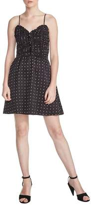 Maje Renota Polka Dot Fit & Flare Dress