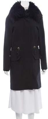 Gucci Fur-Trimmed Drawstring Coat