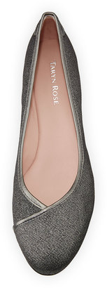 Taryn Rose Felicity Stretch Fabric Low-Wedge Shoe $149 thestylecure.com