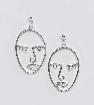 Reclaimed Vintage Inspired Face Earrings