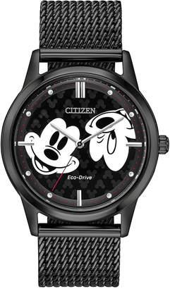 Citizen Disney by Eco-Drive Unisex Mickey Mouse Black Mesh Bracelet Watch 40mm