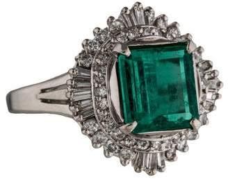 Ring Platinum Emerald & Diamond